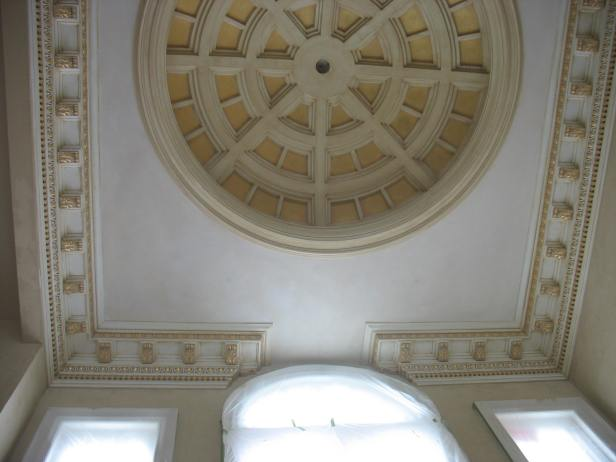 Gold leaf detail on dome