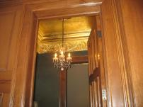 Gold leaf powderroom ceiling