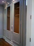 Patina glaze on built in closets