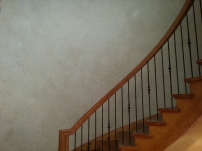 plaster finish with colour wash