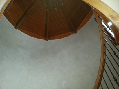 ceiling view of turret