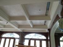 WIP Venetian plaster coffered ceiling