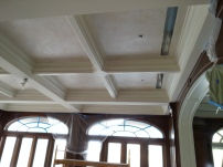 WIP Venetian plaster coffered ceiling
