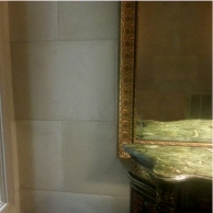 Plaster faux limestone finish