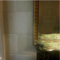Plaster faux limestone finish