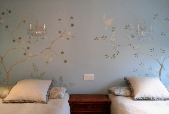 Hand painted feature wall