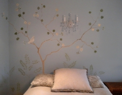Hand painted feature wall_left side detail