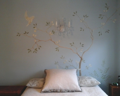 Hand painted feature wall_right side detail